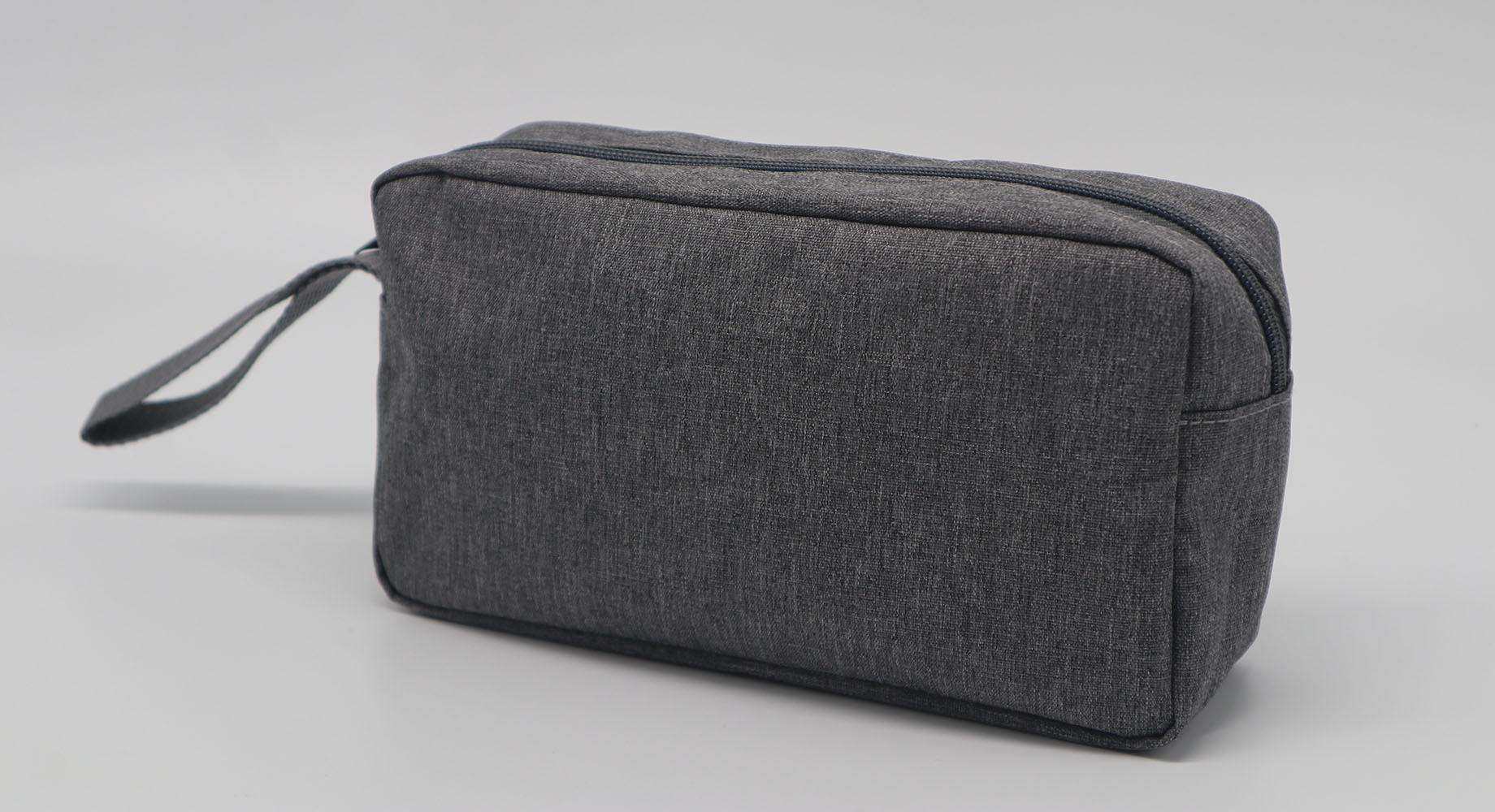 Promotion gift cheap men toiletry bag grey colour polyester made 3