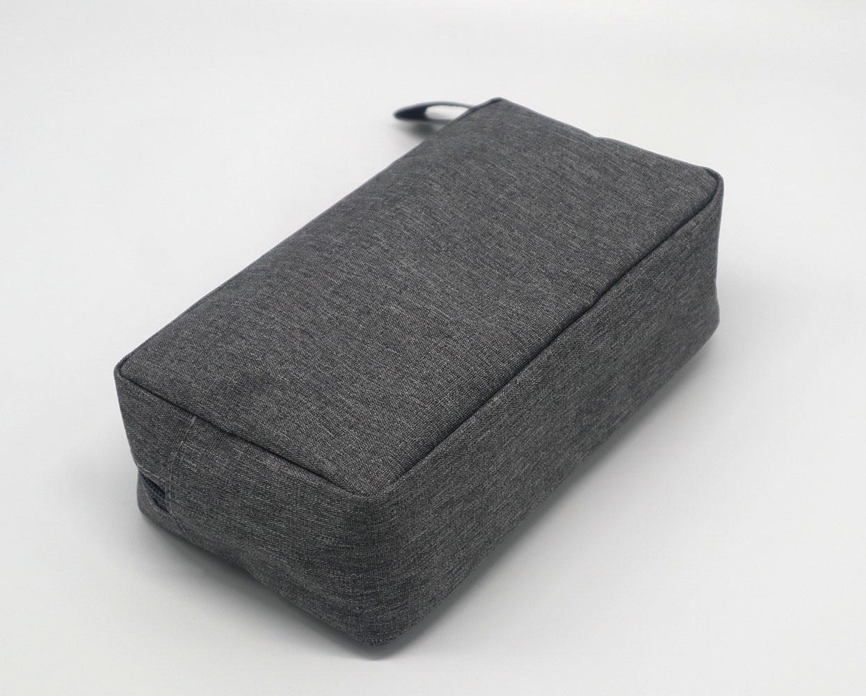 Promotion gift cheap men toiletry bag grey colour polyester made 5