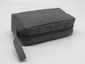 Promotion gift cheap men toiletry bag grey colour polyester made 4