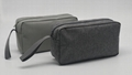 Promotion gift cheap men toiletry bag grey colour polyester made
