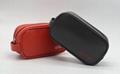 PU leather unisex airline amenity toiletry bag orange colour 6