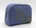 16oz canvas beauty women daisy cosmetic bag sky blue color 1