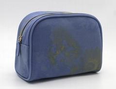 16oz canvas beauty women daisy cosmetic bag sky blue color