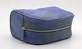 16oz canvas beauty women daisy cosmetic bag sky blue color 4