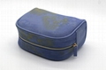 16oz canvas beauty women daisy cosmetic bag sky blue color