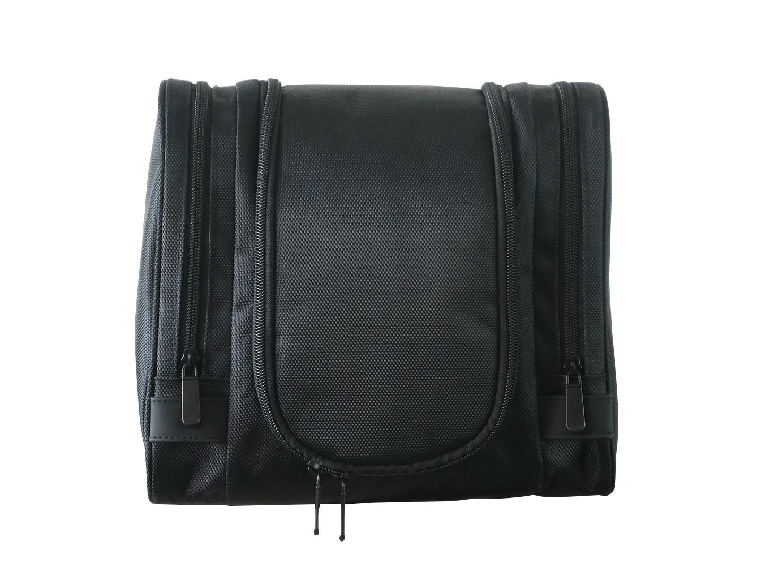 1680D polyester black multifunction men high grade travel hanging toiletry bag