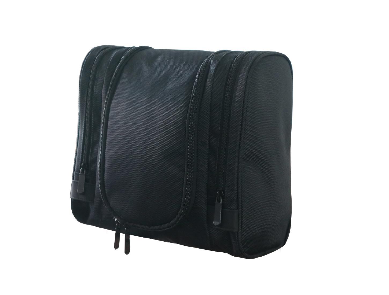 1680D polyester black multifunction men high grade travel hanging toiletry bag  2