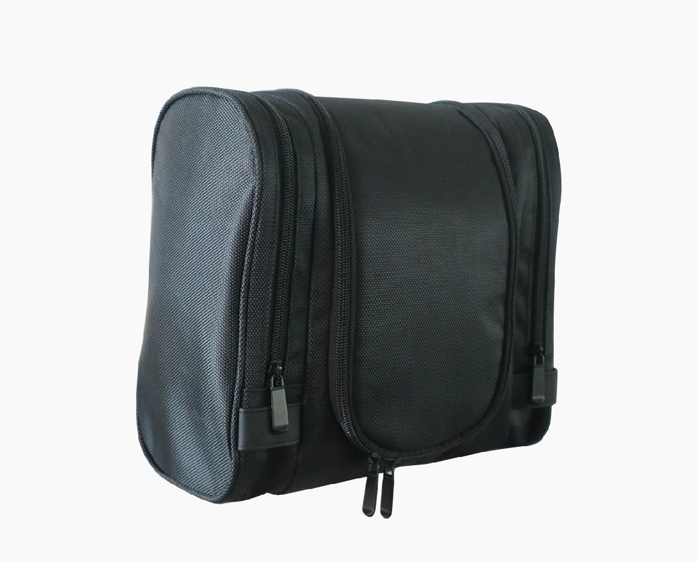 1680D polyester black multifunction men high grade travel hanging toiletry bag  3