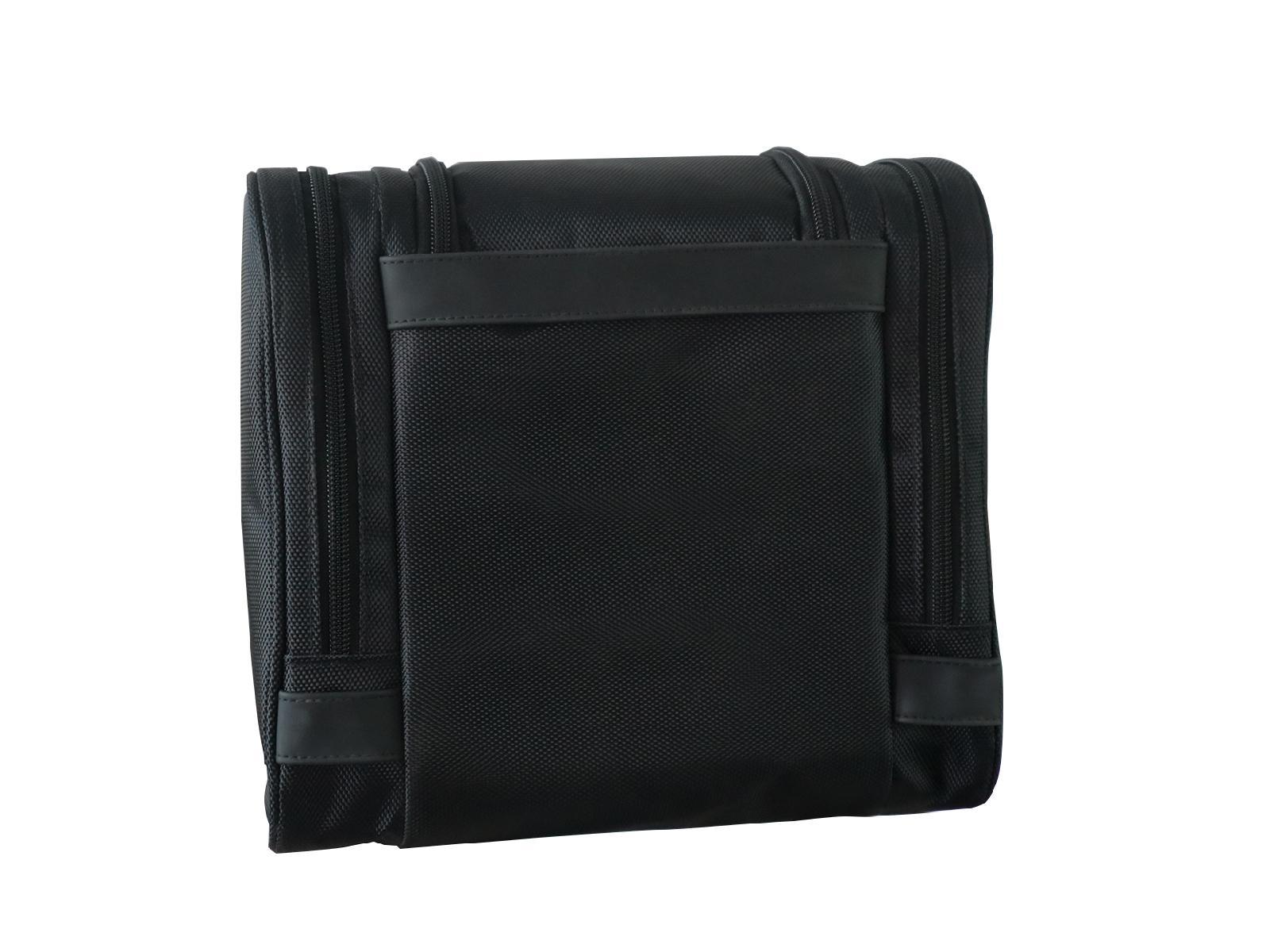 1680D polyester black multifunction men high grade travel hanging toiletry bag  4