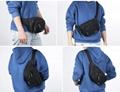 2019 latest trend multifunction women waist bag black with full prints