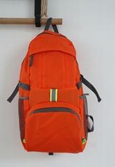 Latest light lattice nylon foldable camping backpack orange colour