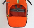Latest light lattice nylon foldable camping backpack orange colour