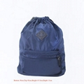 Latest 230D nylon drawstring backpack blue colour