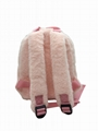 Artificial rabbit fur lovely kid girls' small school bag pink colour