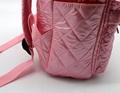 Nylon quilted lovely kids small pink school bag for kindergarten girls 6