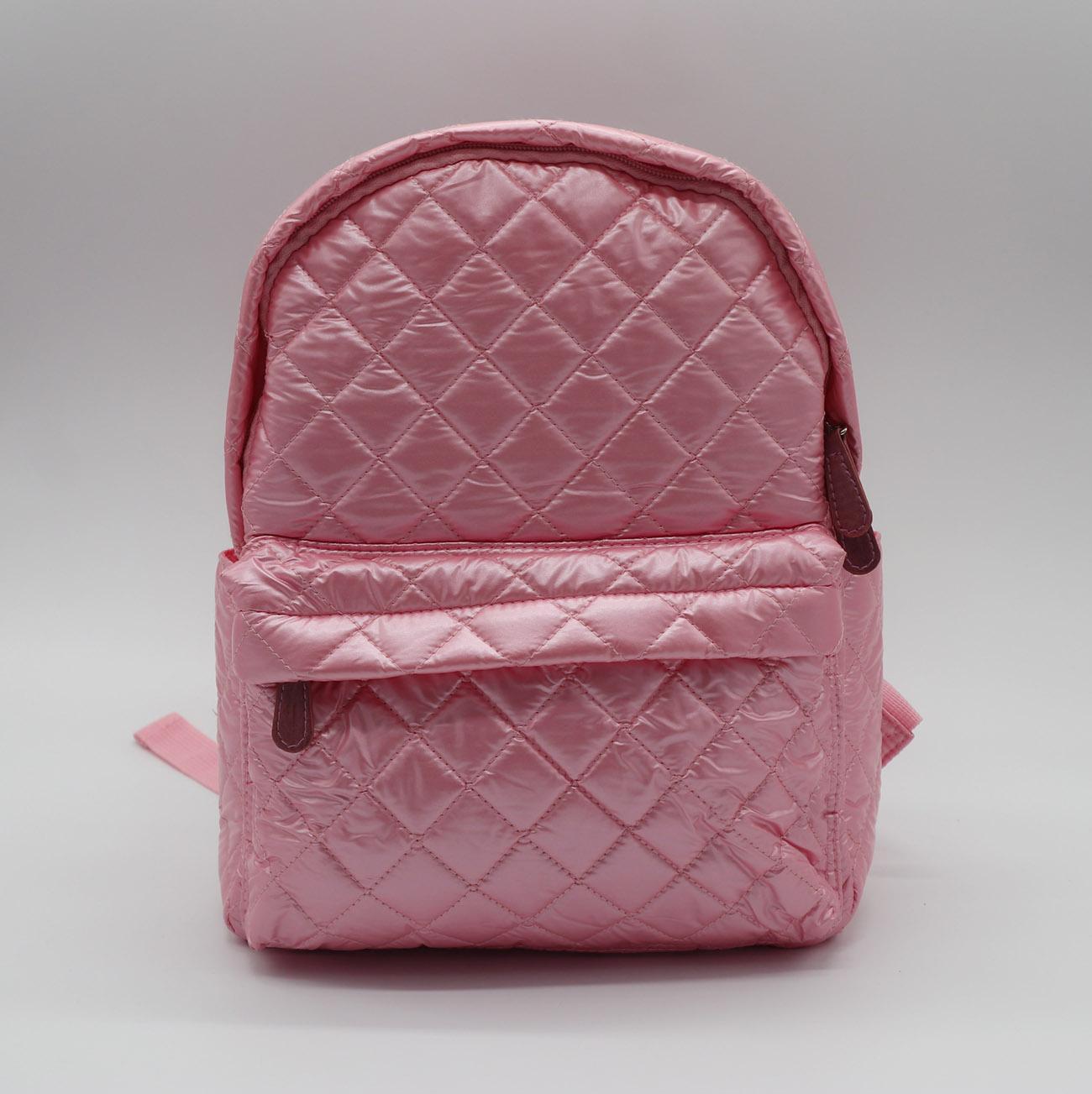 Nylon quilted lovely kids small pink school bag for kindergarten girls 1