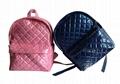 Nylon quilted lovely kids small pink school bag for kindergarten girls 8
