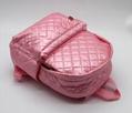 Nylon quilted lovely kids small pink school bag for kindergarten girls