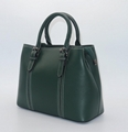 Genuine leather beauty medium size women handbag green colour