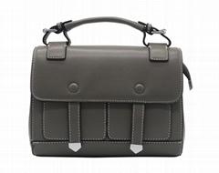 Hot! 2019 newest genuine leather trend women handbag grey colour
