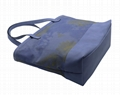 Daisy prints 16oz canvas beauty women tote bag in smog blue
