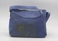 Daisy prints 16oz canvas beauty women shoulder handbag smog blue colour