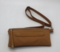 PU leather brown colour beauty lady hip/fanny bag with adjustable strap