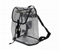0.8mm transparent PVC beauty lady backpack