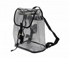 0.8mm transparent PVC beauty lady backpack