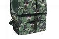 Matt PVC coated polyester leaves two layers picnic cooler backpack