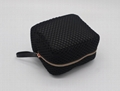 Promotion gift Lady beauty black mesh small cosmetic pouch w/wrist handle