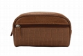 Hot sale! Beauty lady brown makeup bag crocodile PVC made