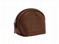 Brown shell shape mini cosmetic bag for