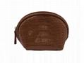 Brown shell shape mini cosmetic bag for women