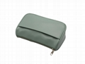 The pistachio green lady beauty Clutch cosmetic bag with pocket