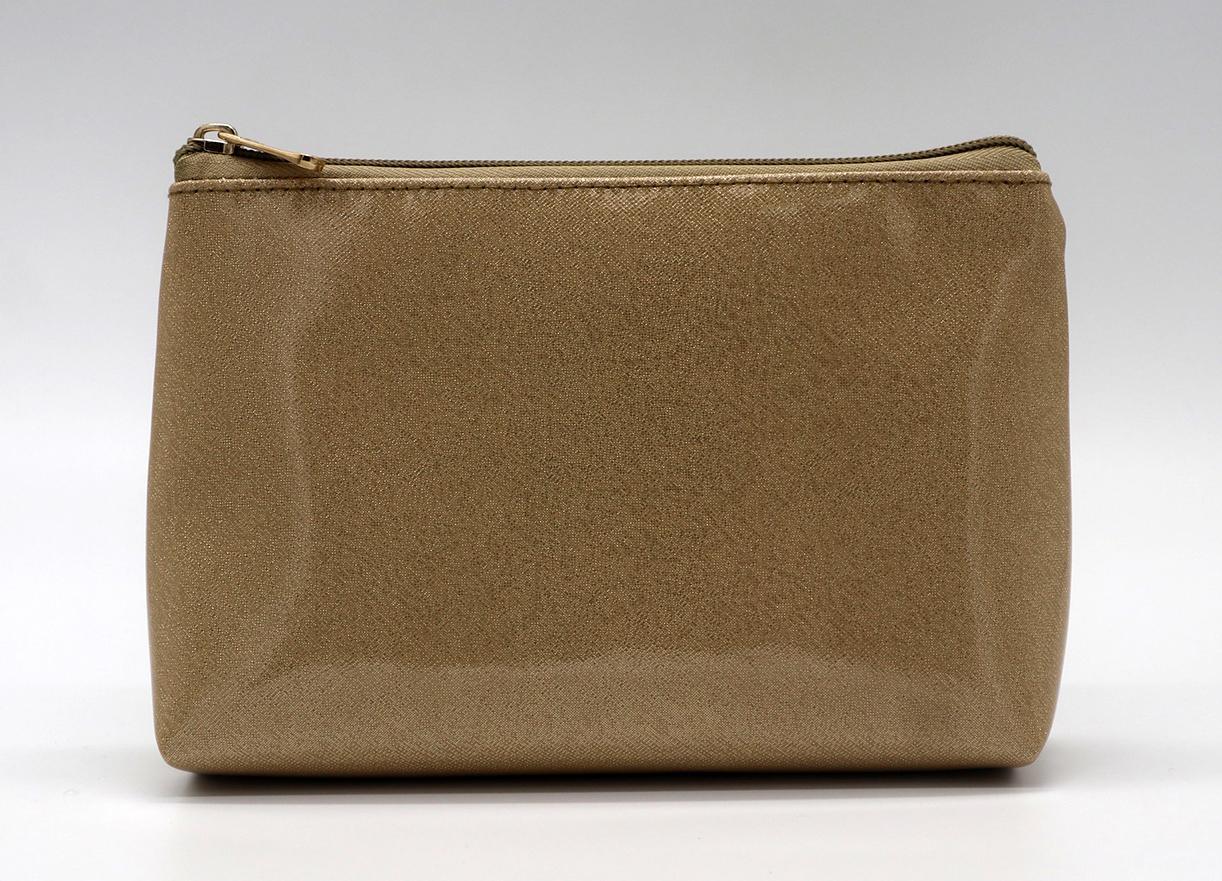 Glitter PU goldc beauty women cosmetic bag for travel  1