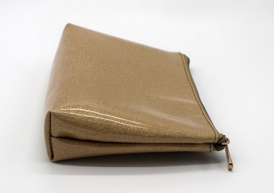 Glitter PU goldc beauty women cosmetic bag for travel  4