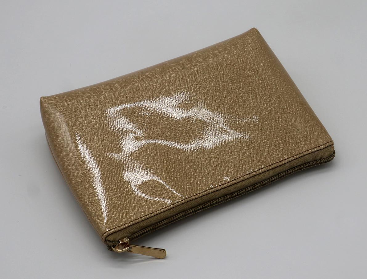Glitter PU goldc beauty women cosmetic bag for travel  3