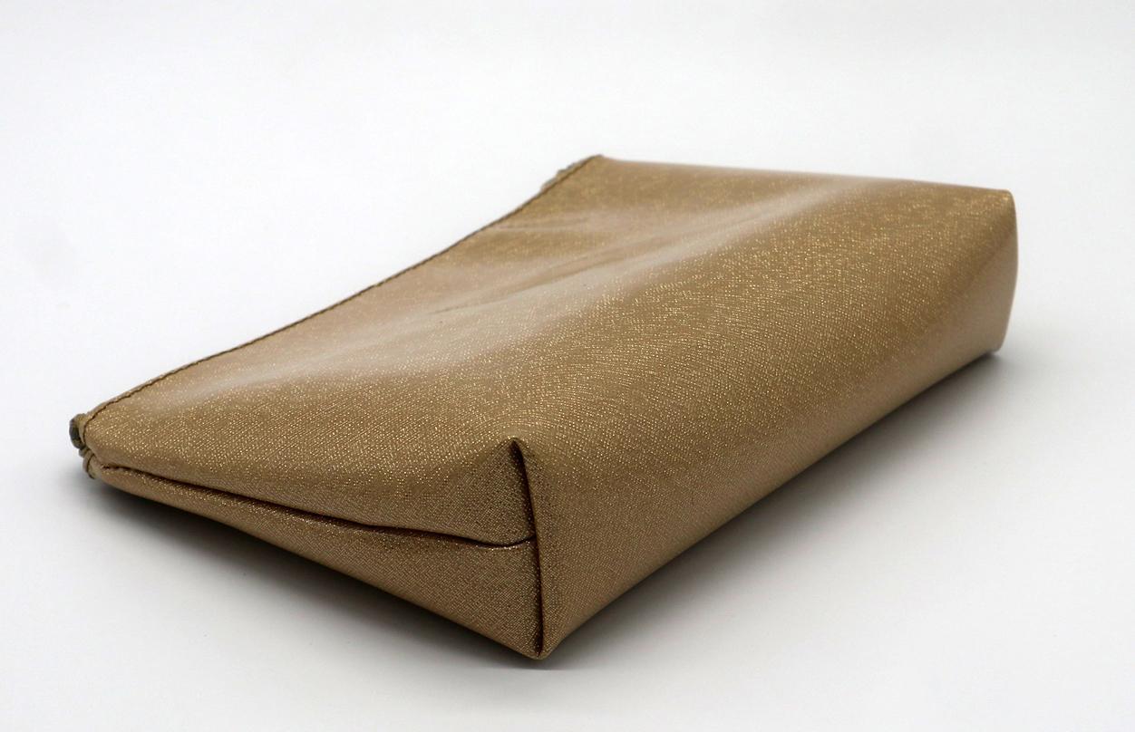 Glitter PU goldc beauty women cosmetic bag for travel  5