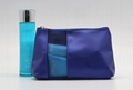 Promotion gift PU made beauty PU cosmetic bag with mesh window