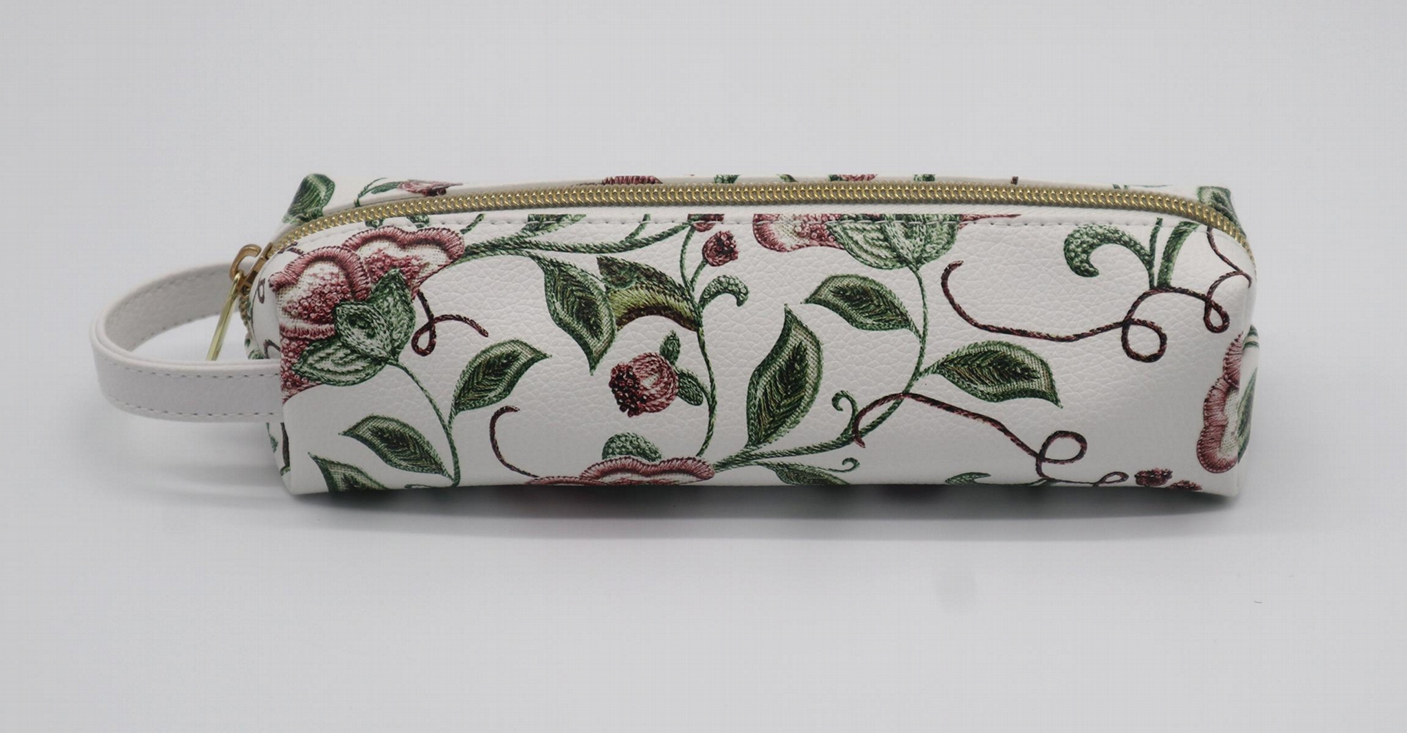 Nicer lady small full prints cosmetic pouch bag with short handle  1