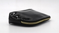 Shiny black vinyl PU high grade gift cosmetic bag to vip customers