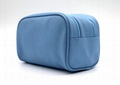 PU made beauty women cosmetic bag with double zipper opens