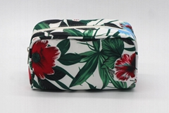 Polyester promotion gift beauty women cosmetic bags with full prints