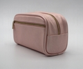 Cross pattern PU high grade gift lady cosmetic bag with two pockets