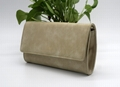 High grade Nubuck PU beauty lady clutch handbag with inner zipper pocket