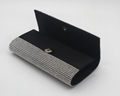 High grade beauty lady evening clutch bag silver color with inner pocket