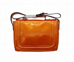 Bright PU high quality lady message shoulder bag with pockets