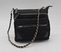 Nylon quilted fashion beauty women's multifunction shoulder bag w/ three straps