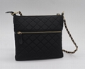 Nylon quilted fashion beauty women's multifunction shoulder bag w/ three straps 3
